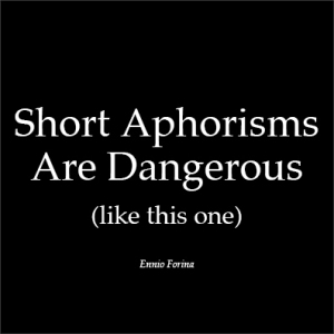 Short aphorisms.e.f