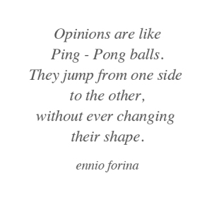 Ping Pong Opinions