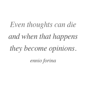 Thoughts can die