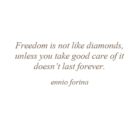 Freedom and Diamonds